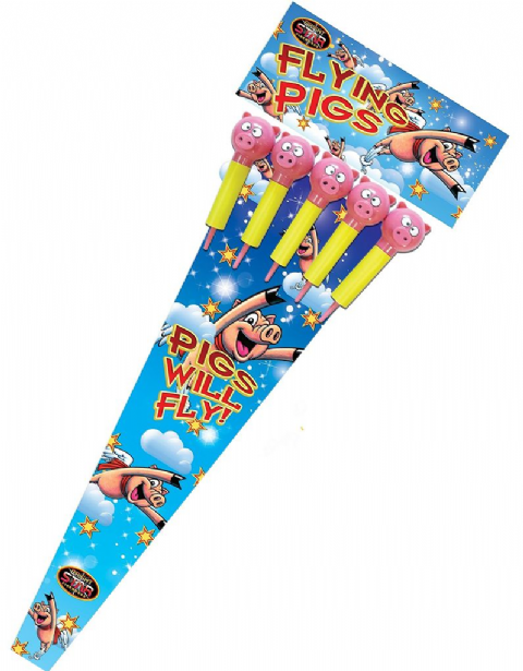Flying Pig Rockets (5 Pack)
